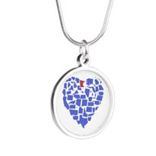 Minnesota Heart Silver Round Necklace