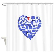 Minnesota Heart Shower Curtain