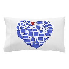 Minnesota Heart Pillow Case