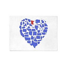 Minnesota Heart 5'x7'Area Rug