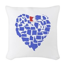 Minnesota Heart Woven Throw Pillow