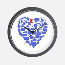 Minnesota Heart Wall Clock