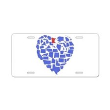 Minnesota Heart Aluminum License Plate