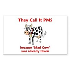 Mad Cow! Rectangle Decal