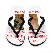 pig humor Flip Flops