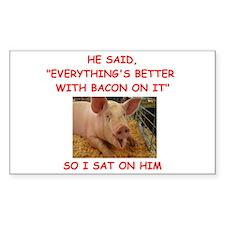 pig humor Decal