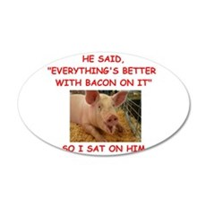pig humor Wall Decal