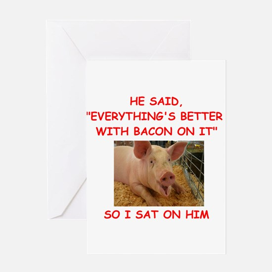 pig humor Greeting Cards