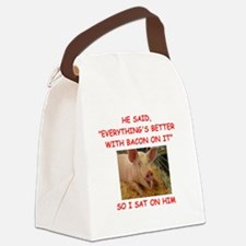 pig humor Canvas Lunch Bag