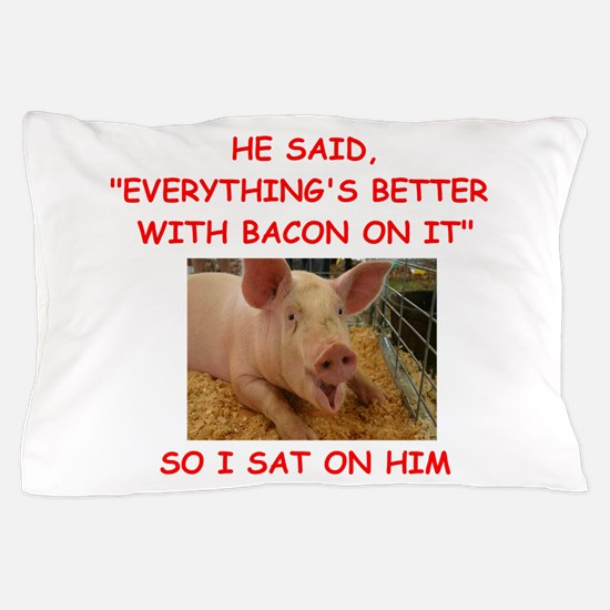 pig humor Pillow Case