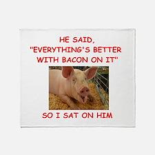 pig humor Throw Blanket