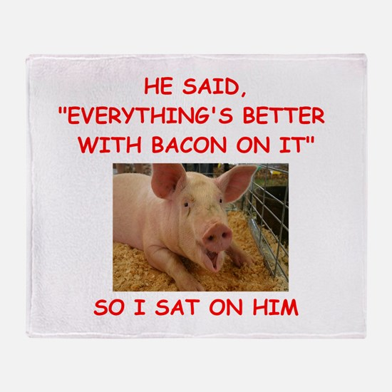 pig humor Throw Blanket