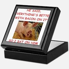 pig humor Keepsake Box
