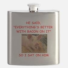 pig humor Flask