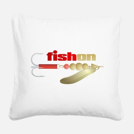 fishon (lure) Square Canvas Pillow