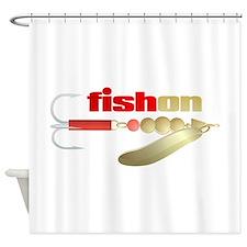 fishon (lure) Shower Curtain