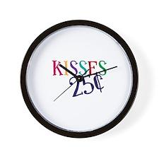 Kisses 25 Cents Wall Clock
