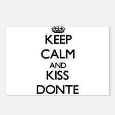 Keep Calm and Kiss Donte Postcards (Package of 8)