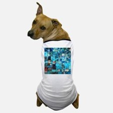 Mosaic in mosaic turquoise Dog T-Shirt