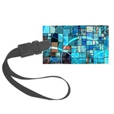 Mosaic in mosaic turquoise Luggage Tag