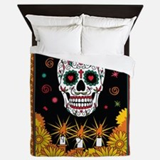 de los muertos (Day of the Dead) Skull Queen Duvet