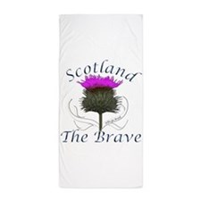 Scotland The Brave Thistle Beach Towel