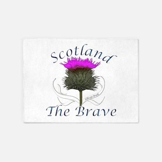 Scotland The Brave Thistle 5'x7'Area Rug