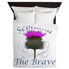 Scotland The Brave Thistle Queen Duvet