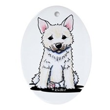 Norwegian Buhund Oval Ornament