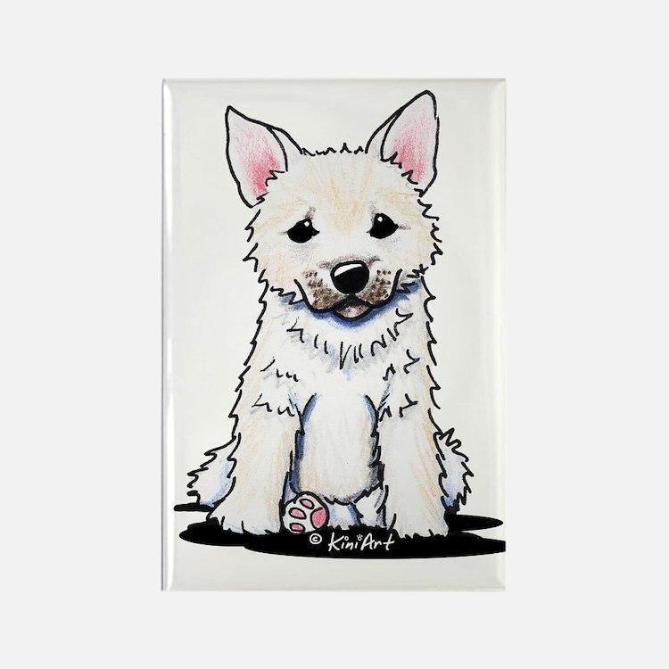Norwegian Buhund Rectangle Magnet (100 pack)