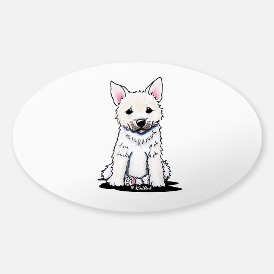 Norwegian Buhund Sticker (Oval)