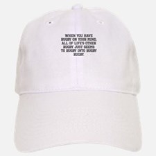 When You Have Rugby On Your Mind Baseball Baseball Baseball Cap