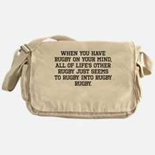 When You Have Rugby On Your Mind Messenger Bag