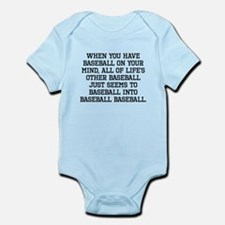 When You Have Baseball On Your Mind Body Suit