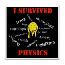 I Survived Physics Tile Coaster