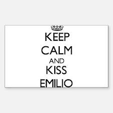 Keep Calm and Kiss Emilio Decal