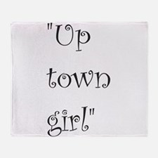 Up town girl Throw Blanket