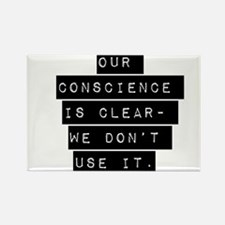Our Conscience Is Clear Magnets