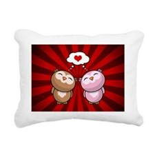 Owls in love Rectangular Canvas Pillow