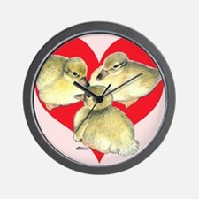 I Love Ducklings! Wall Clock