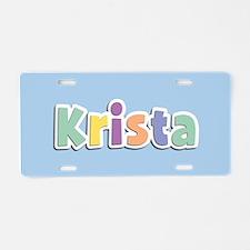 Krista Spring14 Aluminum License Plate