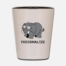 Elephant cartoon | Personalized Shot Glass