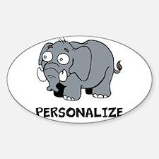 Elephant cartoon   Personalized Decal