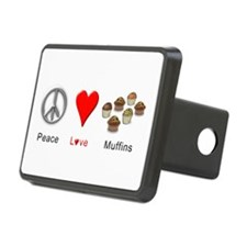 Peace Love Muffins Hitch Cover