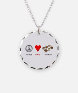 Peace Love Muffins Necklace