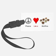 Peace Love Muffins Luggage Tag