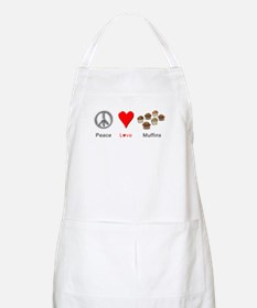 Peace Love Muffins Apron