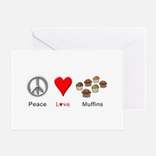 Peace Love Muffins Greeting Card