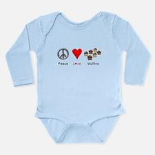 Peace Love Muffins Long Sleeve Infant Bodysuit