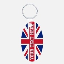 Personalize Union Jack Flag Keychains